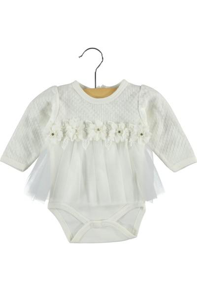Civil Baby Kız Bebek Elbise 0-9 Ay Ekru