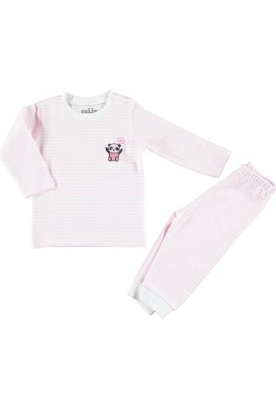 Kujju Bebek Pijama Takımı 6-18 Ay Pembe