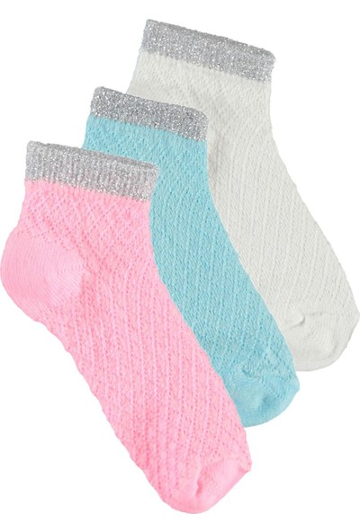 Civil Baby Kız Çocuk 3'lü Çorap Set 2-12 Yaş Pembe