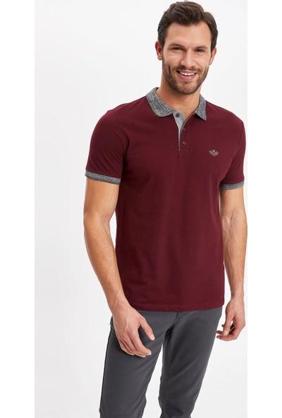 Defacto Erkek Baskılı Slim Fit Polo T-Shirt