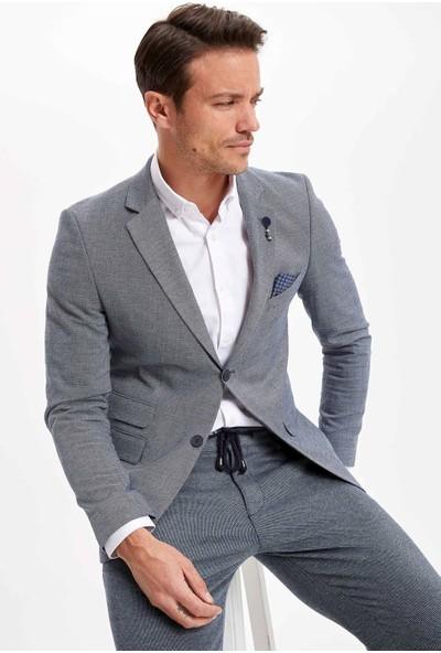 Defacto Erkek Slim Fit Blazer Ceket
