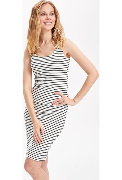 Defacto Kadın Kalın Askılı Slim Fit Elbise