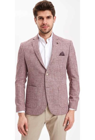 Defacto Erkek Mendil Detaylı Blazer Ceket
