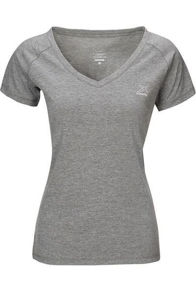 Kinetix Karolina T-Shirt Koyu Gri Mel Kadın T-Shirt