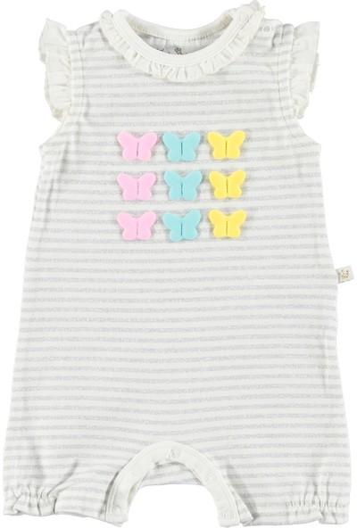 For My Baby Mariposa Fırfır Yaka Bebek Kısa Tulum