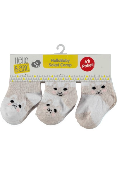 Hello Baby 6'lı Soket Çorap