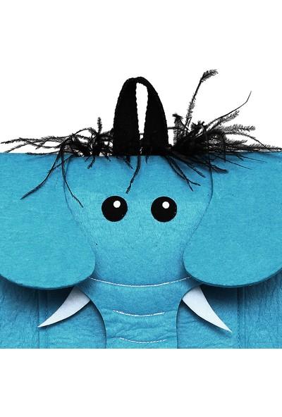 Yaratıcı Tasarım Fil Figürlü Mavi Çocuk Çantası
