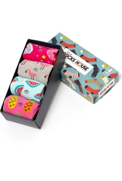 The Socks House Kadın 4'lü Temalı Çorap seti
