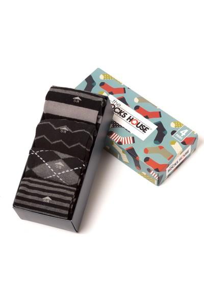 The Socks House Erkek 4'lü Klasik Çorap Seti