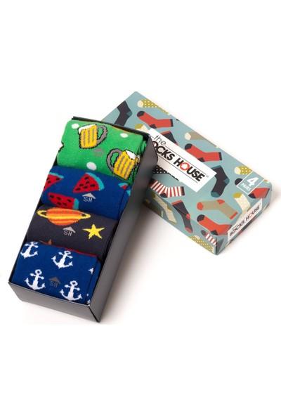 The Socks House Erkek 4'lü Temalı Çorap Seti