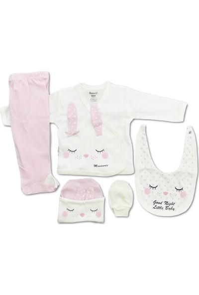 Miniworld Kız Bebek Hastane Çıkışı 5'li Zıbın Seti 14227