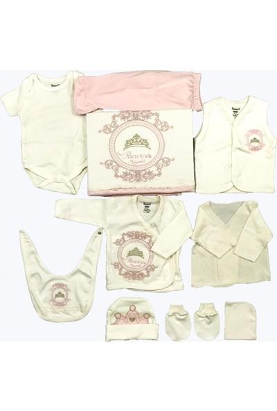 Miniworld Kız Bebek Hastane Çıkışı 10'lu Zıbın Seti Açık Pembe 14279