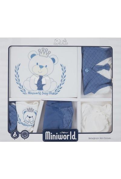 Miniworld Erkek Bebek Hastane Çıkışı 10'lu Zıbın Seti Mavi 14402