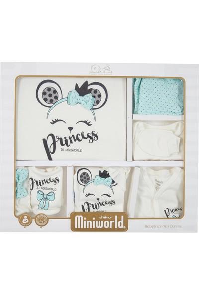 Miniworld Kız Bebek Hastane Çıkışı 10'lu Zıbın Seti 14461