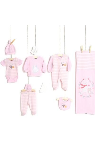 Aziz Bebe Kız Bebek Hastane Çıkışı 10'lu Zıbın Seti 10185
