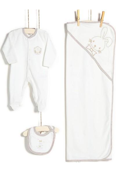 Aziz Bebe Erkek Bebek Hastane Çıkışı Zıbın Seti 10'lu 10197