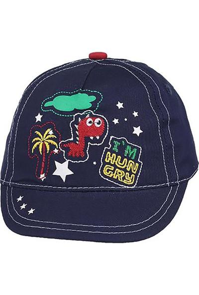 Kitti Erkek Bebek Şapka Kep Yazlık Lacivert 8010-7