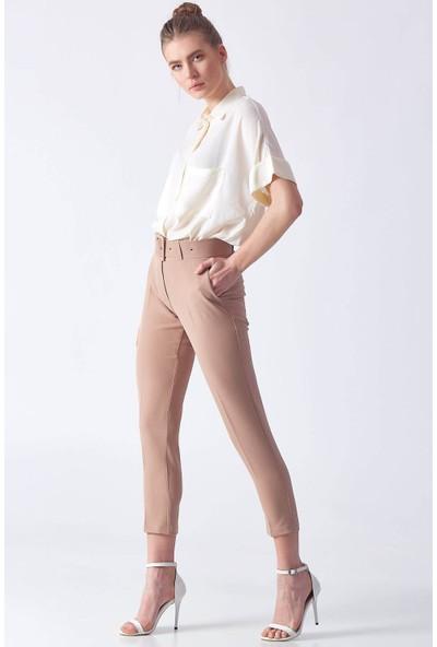 Robin D83022 Kadın 9Y Klasik Pantolon Camel