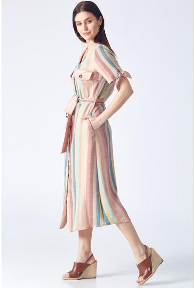 Robin M31624 Kadın 9Y Elbise Somon