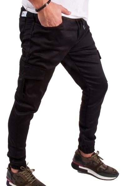 He Brand Siyah Renk Erkek Kargo Pantolon