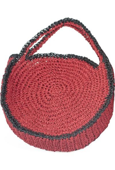 Kavshak Kırmızı Hasır Çanta