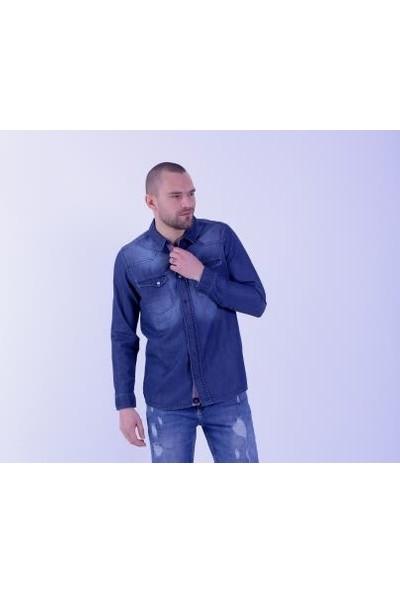 Cazador Mid Night Erkek Uzun Kol Denim Gömlek