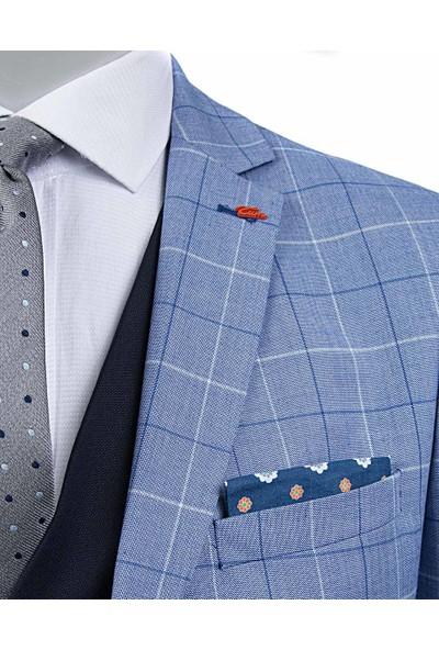 Tween Süper Slim Fit Mavi Kombinli Takım Elbise