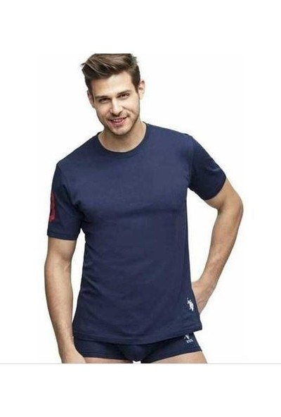U.S. Polo Assn. 80150 Yuvarlak Yaka Erkek T-Shirt Lacivert