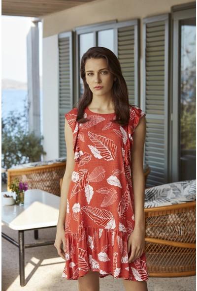 Penye Mood 8533 Kadın Elbise Kirmizi