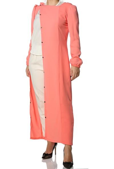 Tantrona Özel Tasarım Asimetrik Kruvaze Pileli Kimono