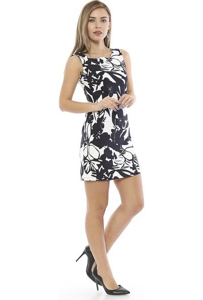 Twenty3 Çiçek Baskılı Dokuma Elbise T3WELB0017