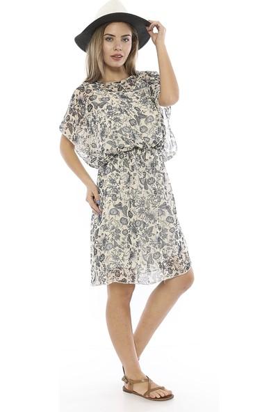 Twenty3 Dokuma Çiçek Desenli Elbise T3WELB0016