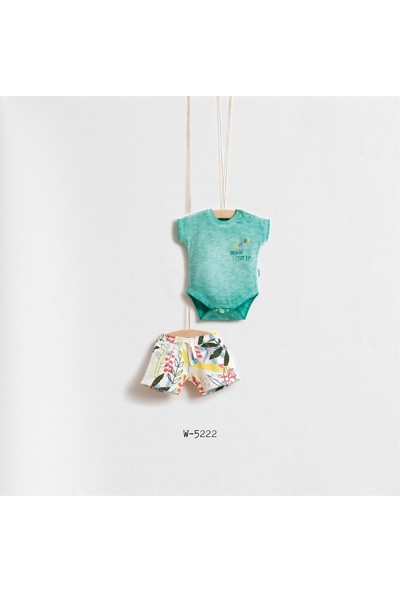 Wogi Baby Papağan Desenli Fularlı 3'Lü Body Set Wg-5222