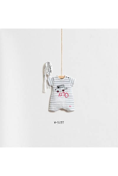 Wogi Baby Arabada Kedi Var 2'Li Tulum Set Wg-5237