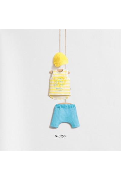 Wogi Baby Deniz Temalı 3'Lü Kapri Set Wg-5250