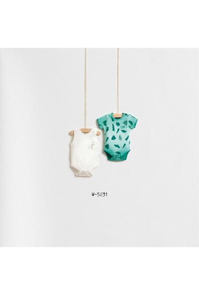 Wogi Baby Papağan Baskılı 2'Li Body Wg-5231