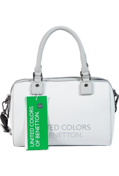 Benetton Kadın El Çantası Beyaz-Açık Gri BNT60