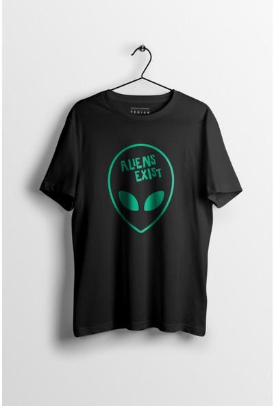 Tshigo Erkek Aliens Exits Baskılı T-Shirt