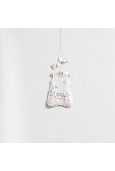 Wogi Baby Dalga Çizgili Bandajlı Tulum Set 5288