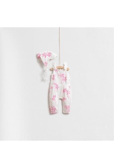 Wogi Baby Palmiye Desenli Önlük'Lü Tulum Set 5290