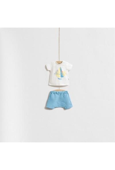Wogi Baby Deniz Temalı Alt Üt Takım 5247