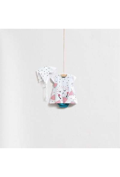 Wogi Baby Fruit Önlüklü Elbise Set 5266