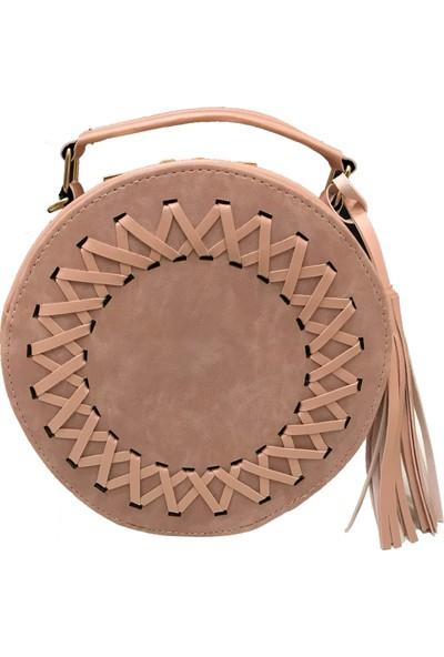 Çanta Stilim Pudra Renk Suni Deri 1119-P El ve Çapraz Kadın Çantası