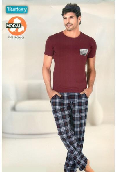 Berland 3744 Erkek Modal Kısa Kol Pijama Takım