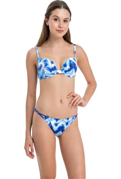 Dagi Sabit Silikonlu Balenli Bikini