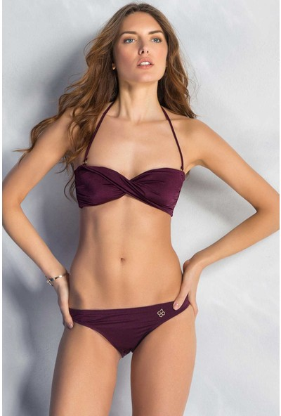 Mite Love Seksi Fiyonk Kurdele Tasarım Mor Bikini Viki