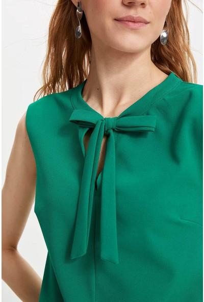 Defacto Kadın Kolsuz Elbise