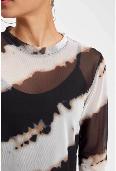 Defacto Kadın Slim Fit Uzun Kollu T-Shirt