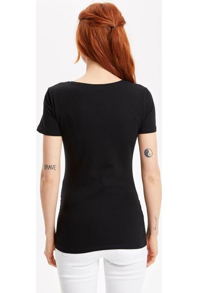 Defacto Kadın Emzirme Özellikli Hamile T-Shirt