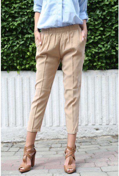 Her Mod'a Bir Moda Tensel Kumaş Pantolon